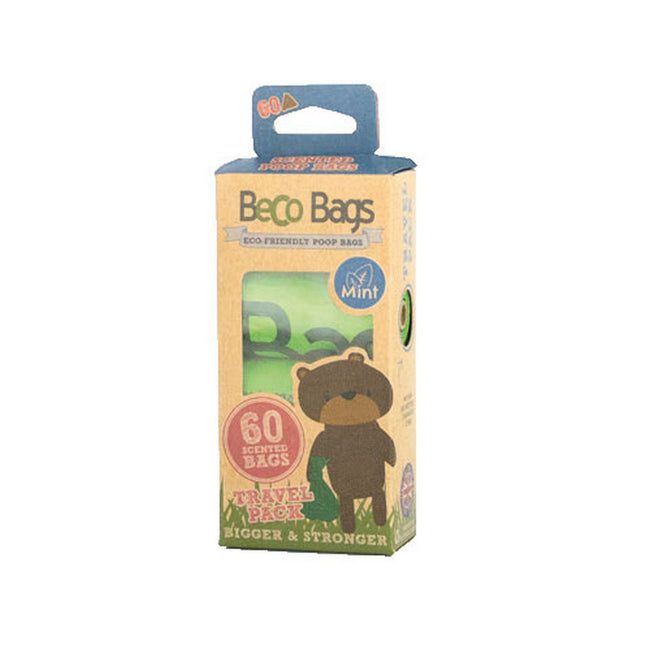 Green - Front - Beco Mint Scented Dog Waste Disposal Plastic Bags