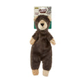 Brown-Beige - Front - Interpet Limited Petlove Furzz Plus Bear Dog Toy