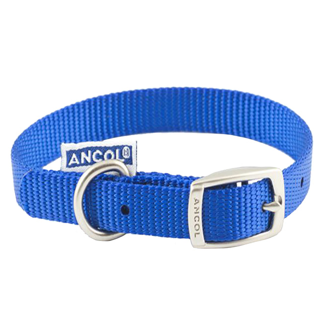 Blue - Front - Ancol Pet Products Heritage Buckle Fasten Weatherproof Dog Collar