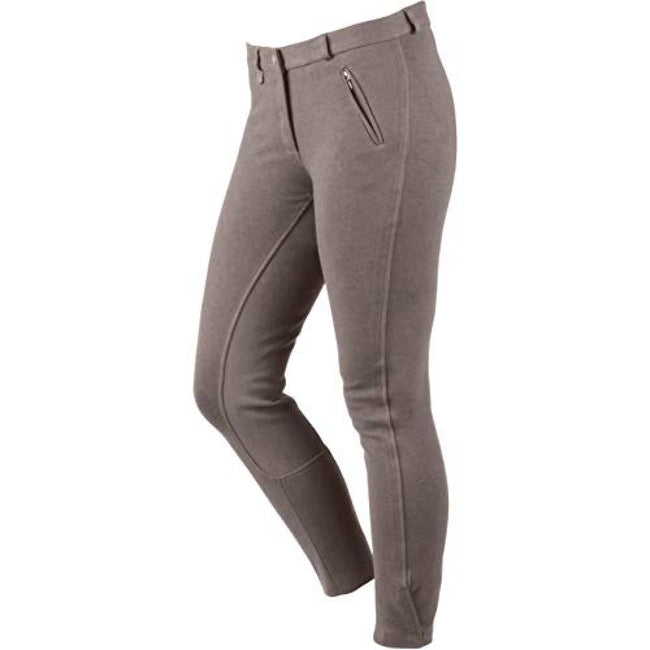 Charcoal - Front - Dublin Womens-Ladies Supa Slender Classic Touch Fastening Full Seat Breeches