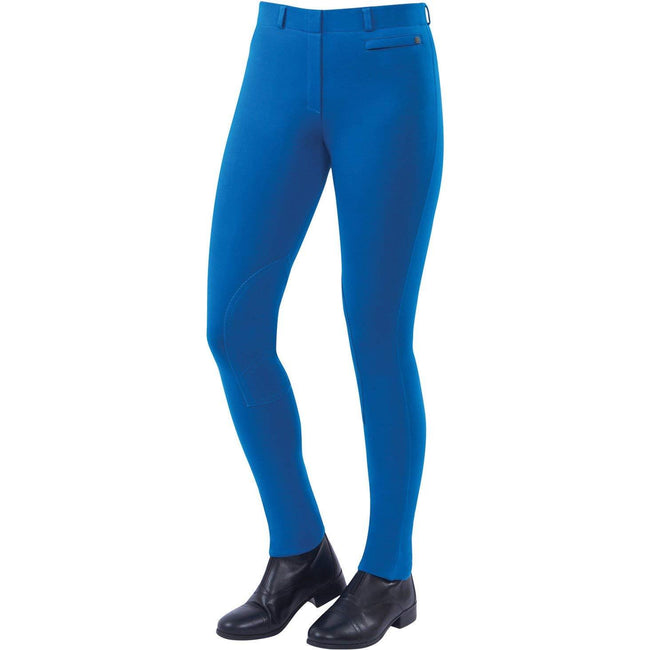 Sea Blue - Front - Dublin Womens-Ladies Supa-fit Pull On Knee Patch Jodhpurs