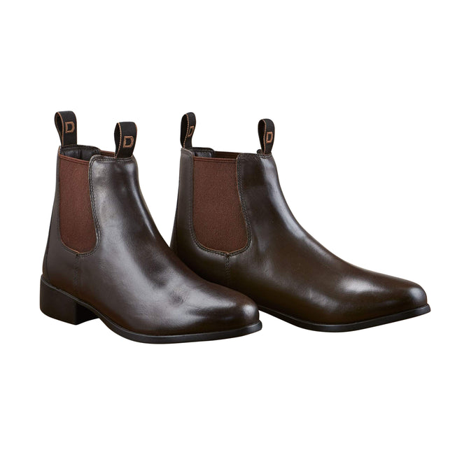 Brown - Front - Dublin Adults Leather Foundation Jodhpur Boots