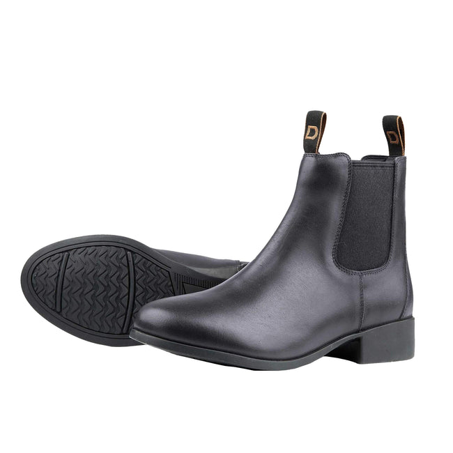 Black - Front - Dublin Adults Leather Foundation Jodhpur Boots