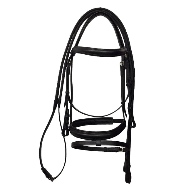 Black - Front - Kincade Leather Flash Bridle II