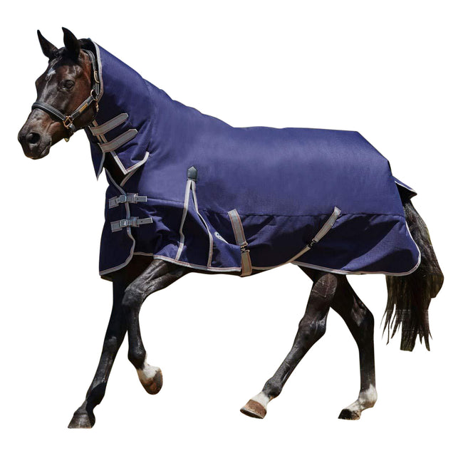 Shiraz-Teal-Blue - Front - Weatherbeeta Comfitec Heavy Essential Combo Neck Turnout Rug