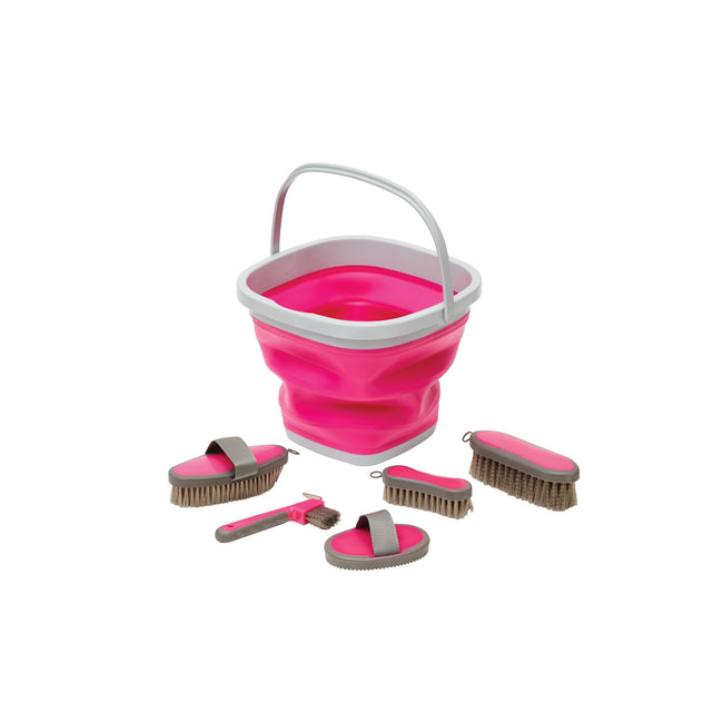 Pink - Front - Roma Grooming Bucket Kit