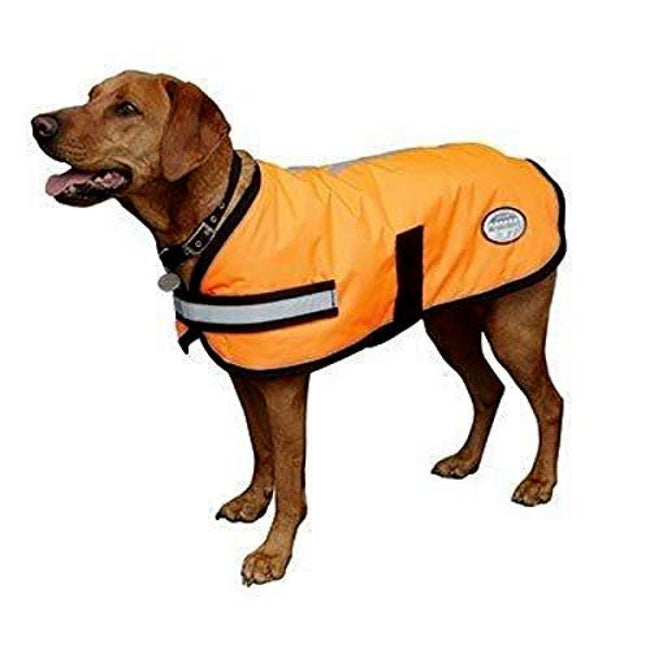 Orange - Front - Weatherbeeta Reflective Parka 300d Dog Coat