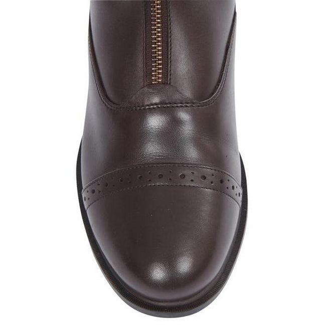 Brown - Pack Shot - Dublin Evolution Adults Zip Front Leather Paddock Boots