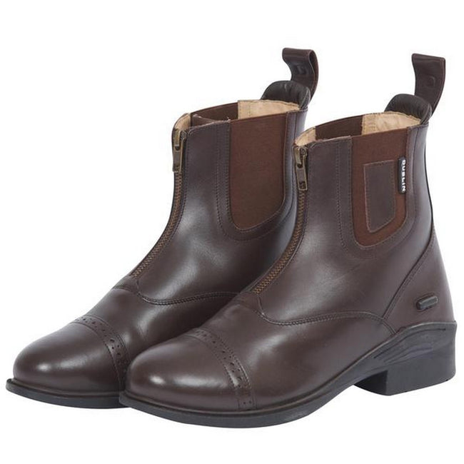 Dublin Evolution Adults Zip Front Leather Paddock Boots