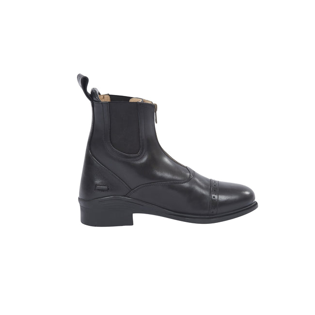 Black - Side - Dublin Evolution Adults Zip Front Leather Paddock Boots
