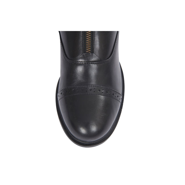 Black - Pack Shot - Dublin Evolution Adults Zip Front Leather Paddock Boots
