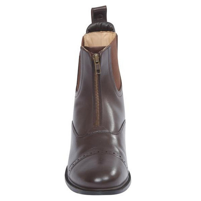 Brown - Lifestyle - Dublin Evolution Adults Zip Front Leather Paddock Boots
