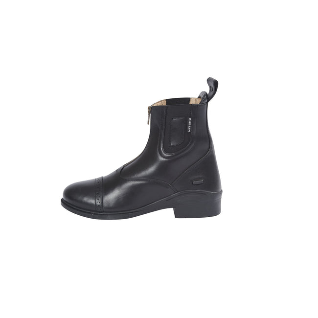 Black - Front - Dublin Evolution Adults Zip Front Leather Paddock Boots