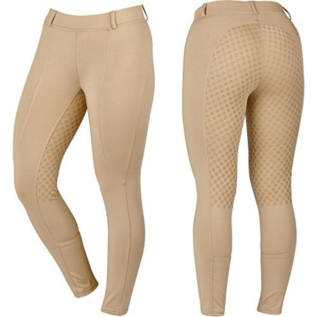 Beige - Front - Dublin Childrens-Kids Performance Cool-it Gel Riding Tights
