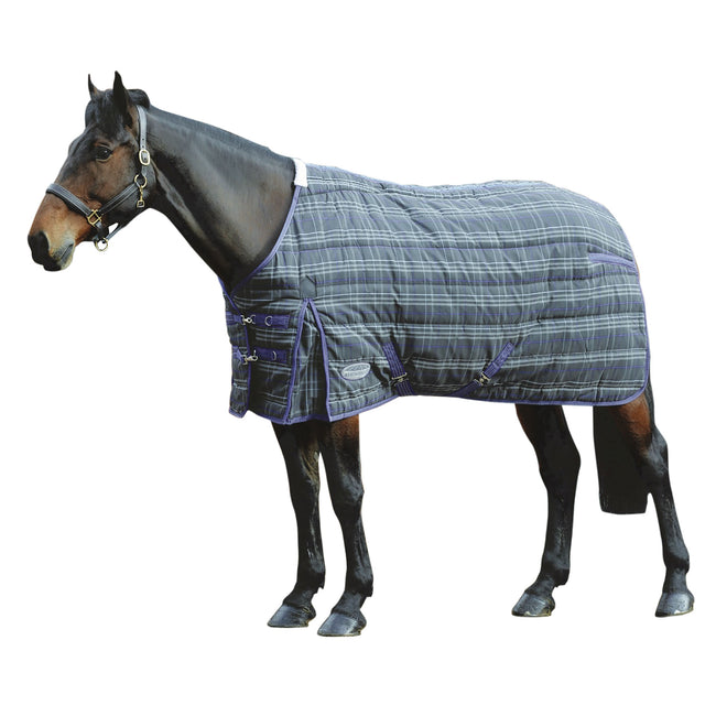 Grey Plaid - Front - Weatherbeeta Comfitec Heavy PP Channel Quilt Standard Neck Stable Rug