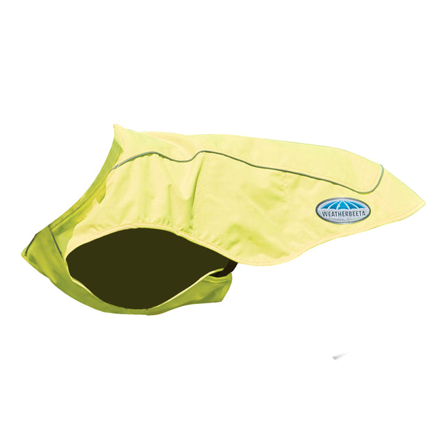 Yellow - Front - Weatherbeeta Reflective Exercise Dog Coat
