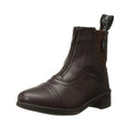 Black - Front - Saxon Childrens-Kids Syntovia Zip Paddock Boots