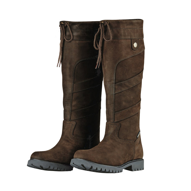 Chocolate - Front - Dublin Adults Unisex Kennet Leather Boots