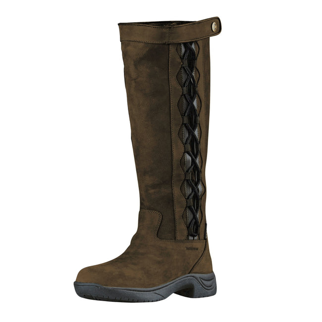 Dark Brown - Side - Dublin Adults Unisex Pinnacle Leather Boots II