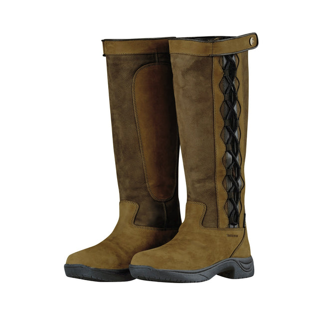 Chocolate - Back - Dublin Adults Unisex Pinnacle Leather Boots II