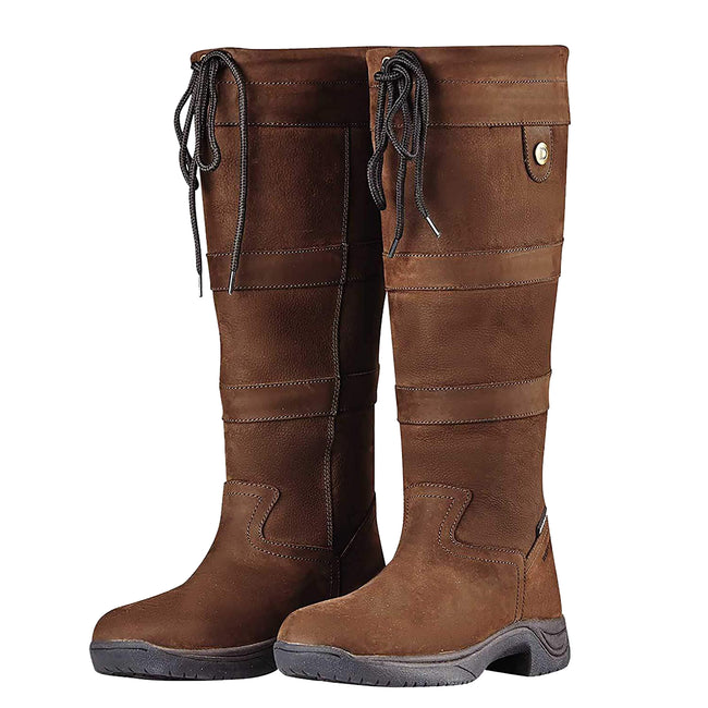 Chocolate - Back - Dublin Adults Unisex River Leather Boots III