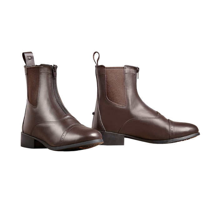 Black - Side - Dublin Adults Elevation Zip Leather Paddock Boots II