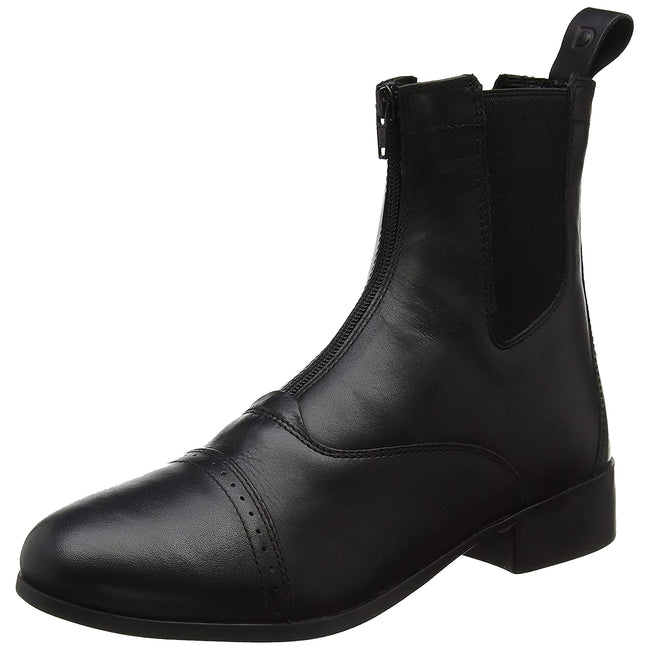 Black - Front - Dublin Adults Elevation Zip Leather Paddock Boots II