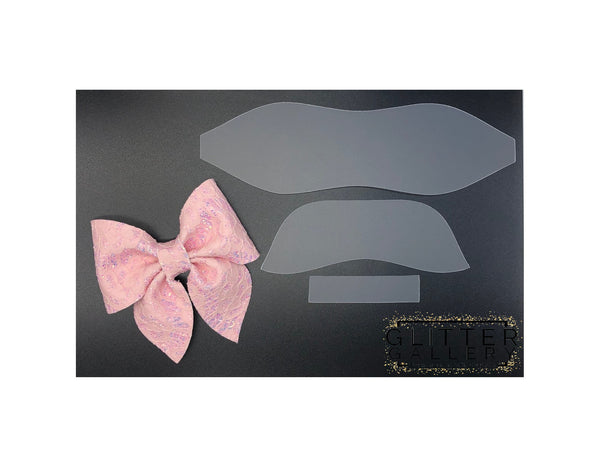 Hot Pink Faux Leather Sailor Bow  Faux Leather Bow  Sailor Bow  Hot Pink Bow