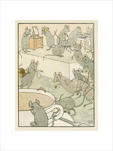 Calico Ban, The little Mice ran, To be ready in time for tea' from Edward Lear's, 'Nonsense Songs', London: Frederick Warne, [1900]