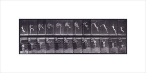 Jumping; running straight high jump (shoes); from 'Animal Locomotion. An Electro-Photographic Investigation of Consecutive Phases of Animal Movement 1872-1885'