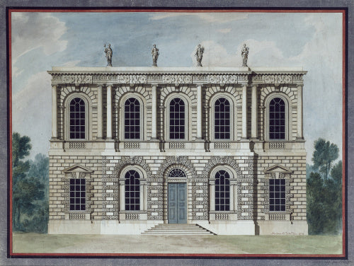 Design for a town hall: elevation