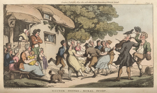 Doctor Syntax, Rural sport, from 'The Tour of Doctor Syntax in search of the Picturesque', London 1812