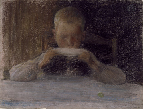 Boy at Breakfast (study for 'Sunday Morning')