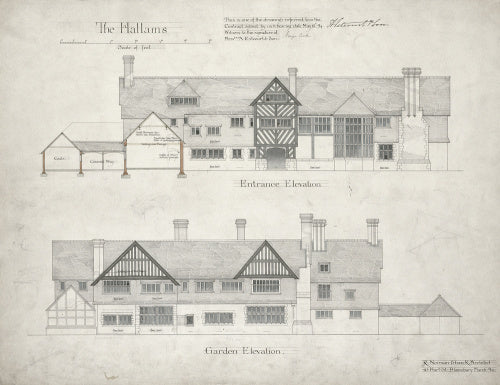 Design for the Hallams...'