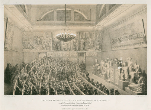 Westmacott lecturing at Somerset House in 1830