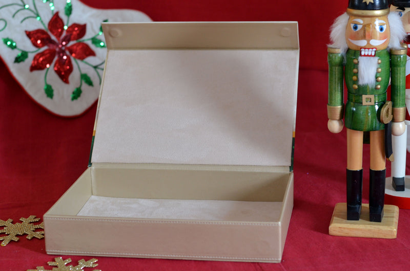 CHRISTMAS GIFT LEATHER BOX 20 COOKIES