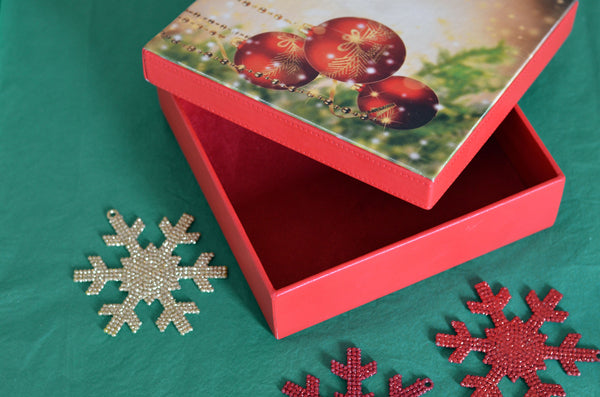 CHRISTMAS GIFT LEATHER BOX 16 COOKIES