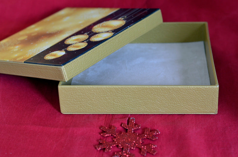 CHRISTMAS GIFT LEATHER BOX 25 COOKIES