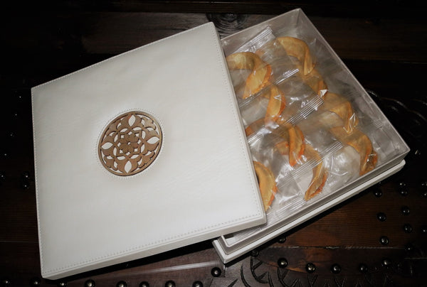 SPECIAL GIFT LEATHER BOX 20 COOKIES