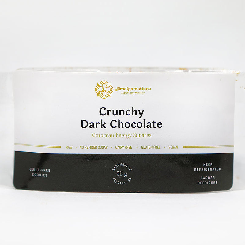 crunchy dark chocolat packaging