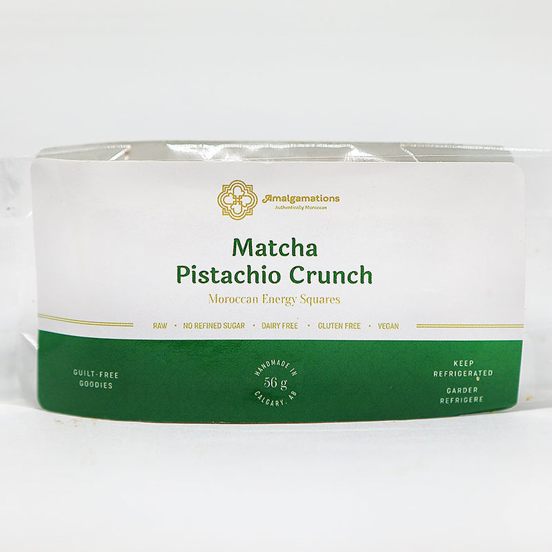 matcha pistachio crunchy packaging