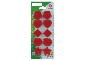 Whiteboard Magnets (x10) Assorted Red Shapes