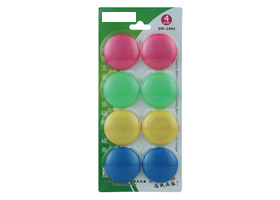 Whiteboard Magnets Round / Circular (x8) - Assorted Colours