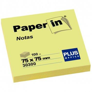 Paper Stick on Notes 75 x 75mm Yellow