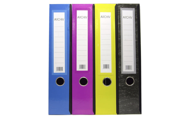 Archiv Box Files (Various Colours) with clip inside