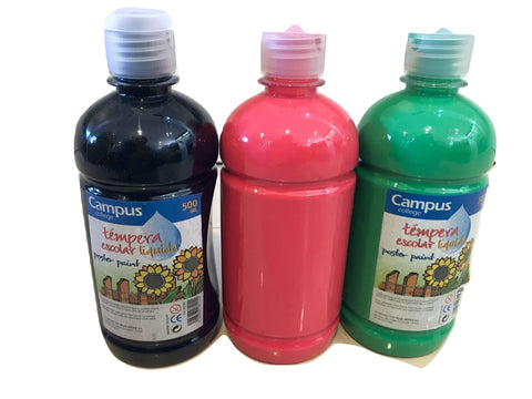 SPECIAL OFFER - 500g Bottle Poster Paint Trio 3