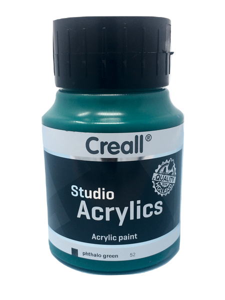 Acrylic Paint - 500ml (Big) - Professional - Phtalo Green (Creall)