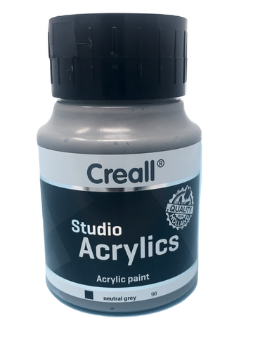 Acrylic Paint - 500ml (Big) - Professional - Neutral Grey (Creall)