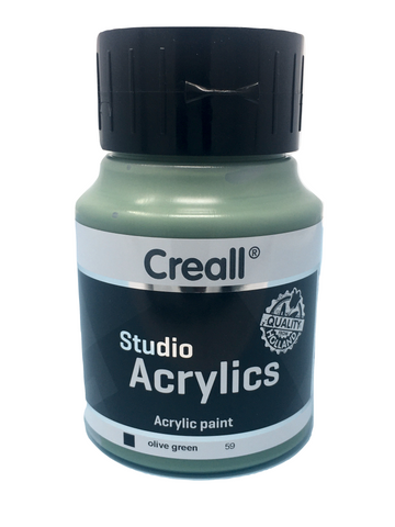 Acrylic Paint - 500ml (Big) - Professional - Olive Green (Creall)