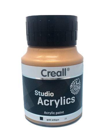 Acrylic Paint - 500ml (Big) - Professional - Gold Antique (Creall)